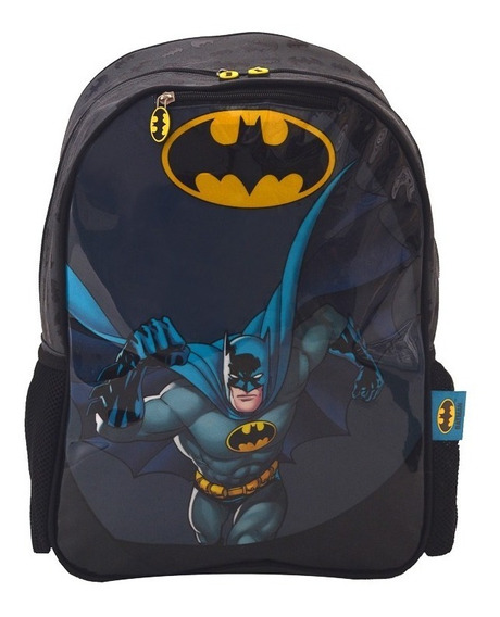 Mochila Batman Capa Primaria 40cm Espalda Escolar Grande 18