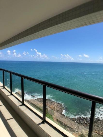 Apartamento De 4 Suítes, Vista Mar, Rio Vermelho - Ap0090