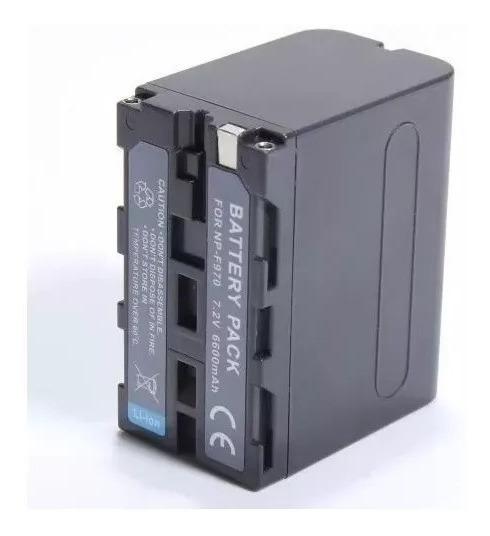Carregador P/ Np970 Fm50 Qm91d + Bateria Npf970 Iluminador