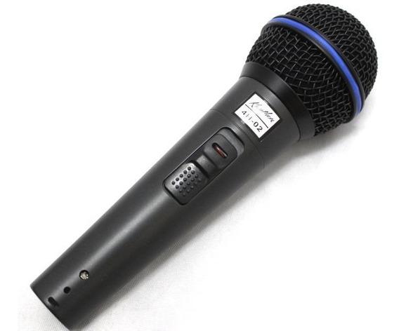 Microfone Kauthon Profissional Dinâmico Vocal E Instrumento