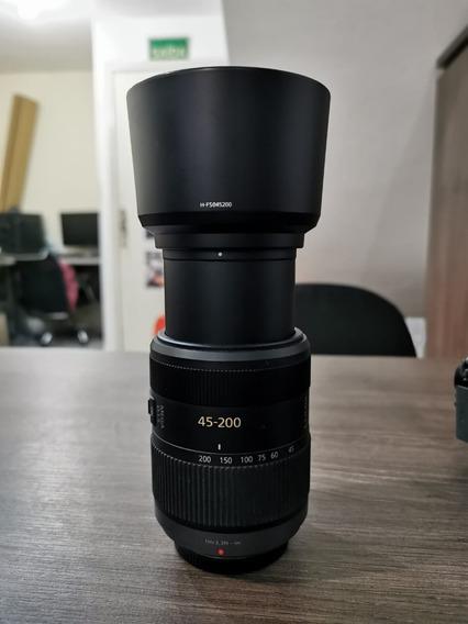 Lente 45-200mm Panasonic Mega Ois M43 Superzoom