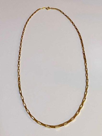 Corrente De Ouro 18kt 50cm 7 Gramas Estilo Cartier