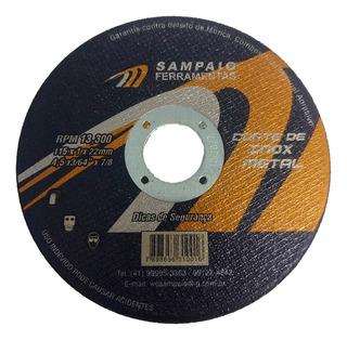 7 X Disco De Corte Para Inox 4 Polegadas Fino 115x1x22mm