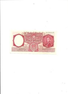 Argentina:billete Diez Peso Moneda Nacional S/c.