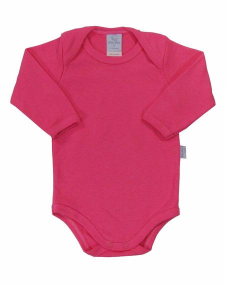 Body Bebê Básico Pronta Entrega 100% Algodão Pink - Piu Piu