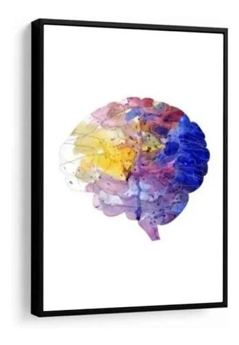 Quadro Decorativo Medicina Cérebro Colorido Consultório
