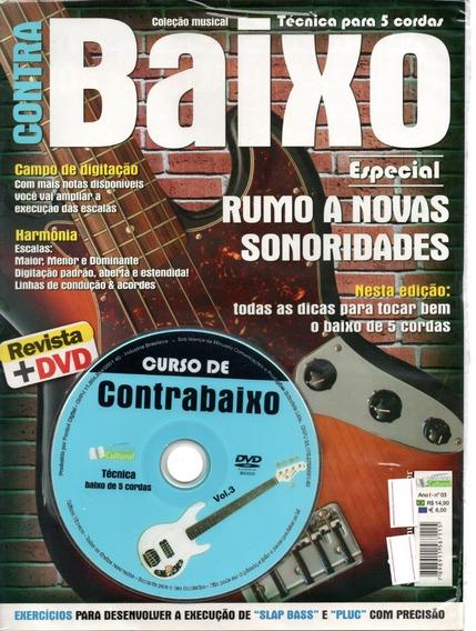 Curso Contrabaixo Vol 3 -técnica Baixo 5 Corda - Dvd+revista