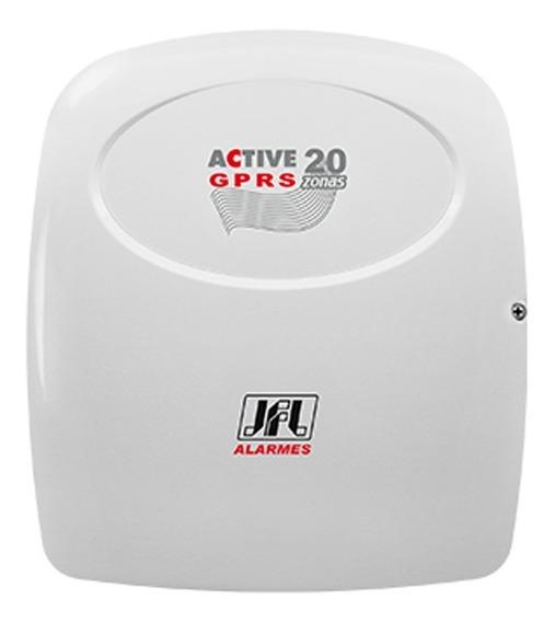 Central Alarme Active 20 Gprs + 10 Sensores Jfl
