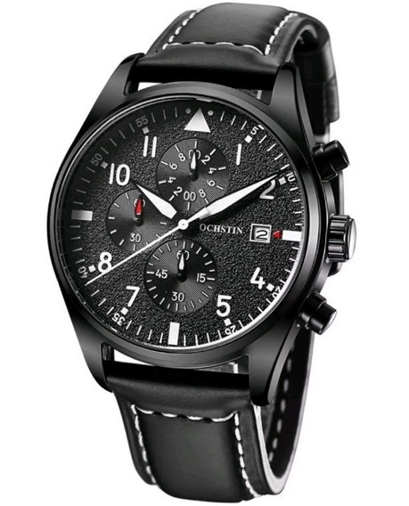 Relógio Masculino Ochstin Social Couro Luxo + Caixa Promoção
