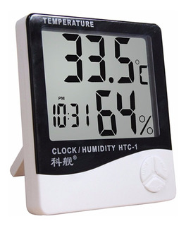 Termómetro. Higrómetro Digital. Humedad Reloj Con Alarma !!