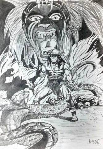 Fanart Conan O Bárbaro Com Moldura