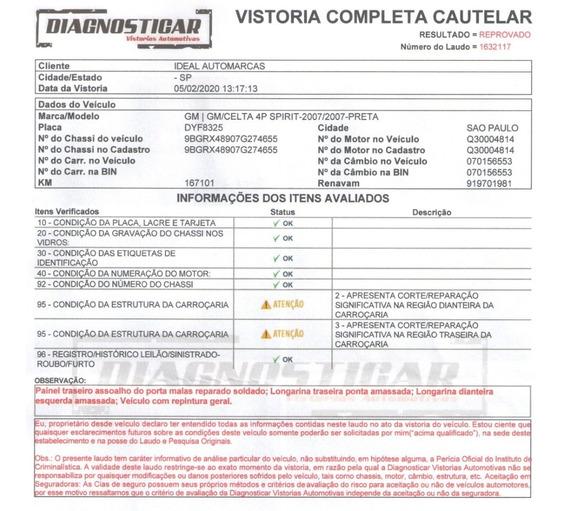 Chevrolet Celta 2007 Vidro Direção Trava 4 Portas Menos Ar