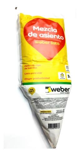 Pegamento Weber Saint Gobain Listo 3kg Para Ladrillo Cuota