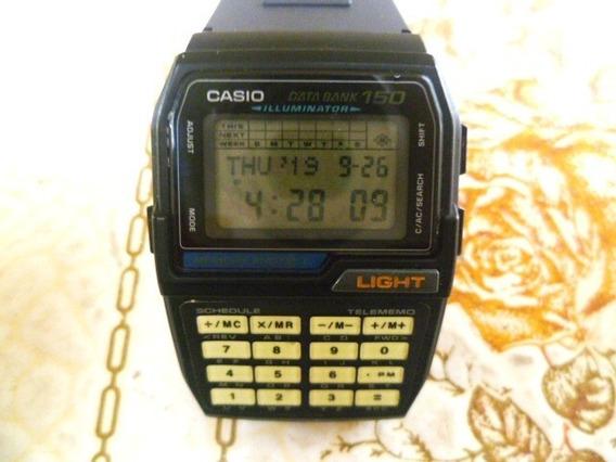Relógio Casio Databank Dbc 150 Modulo 1477 Iluminator