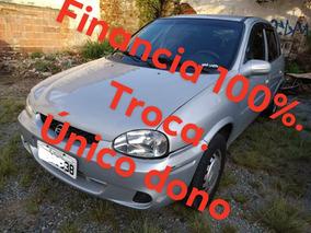 Chevrolet Corsa 1.0 Milenium Prata 2002/unico Dono Barato !!