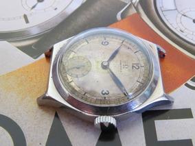 Relógio Omega Trincheiras Aço Dial Sector Militar Rarissimo