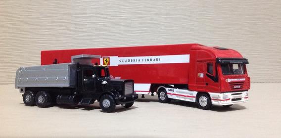 Caminhão Iveco E Peterbilt / Lote Com 2 Caminhões