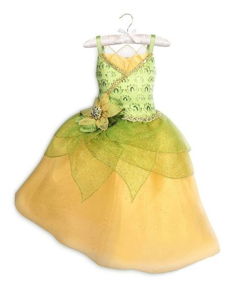 Vestido Tiana T.4 Anos Original Disney Store P/entrega