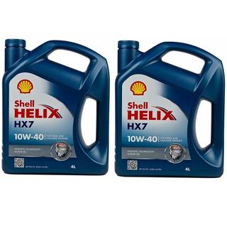 Envío 2 Bidones Aceite Shell Helix Hx7 10w40 X4l Semisintetico