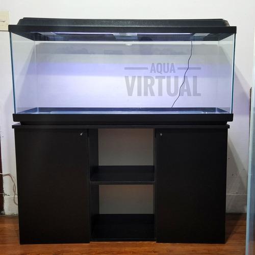 Oferta Acuario 100x50x40 200 Litros Mainar Con Mueble Plafon