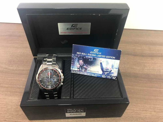 Relógio Casio Edifice Red Bull Racing Edição Limitada