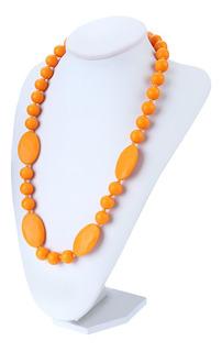 Dentidores De Collar De Silicona Para El Bebé-naranja
