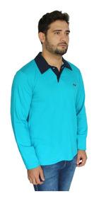 Camisa Polo Manga Longa Pp P M G Gg Comprida Camiseta