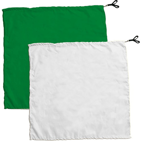 Swing Flag Quadrado Verde Escuro E Branco - Vendido Por Par