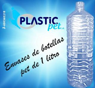 Botellas 1 Litro Con Tapas Plastico Pet