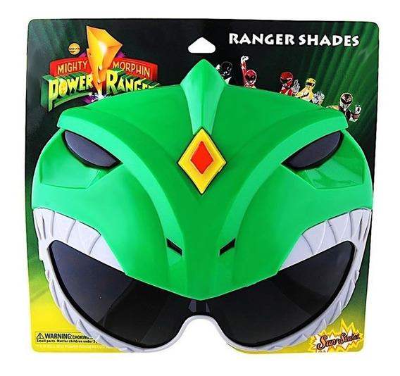 Mascara Lentes Power Rangers Green Ranger Sun-staches