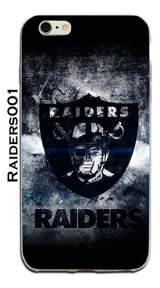 Funda iPhone X 8 7 6 5 Se 5s Plus Oakland Raiders Futbol Tpu