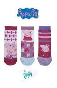 Pack X 3 Medias Peppa Pig Footy