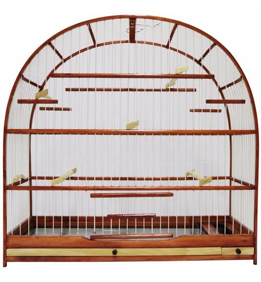 Gaiola Para Pássaro Curió - Mogno