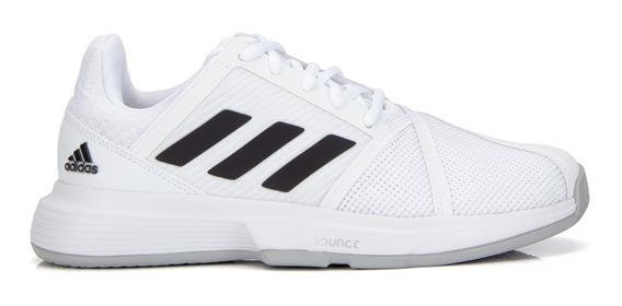 Tênis adidas Feminino Courtjam Bounce Branco Preto E Cinza