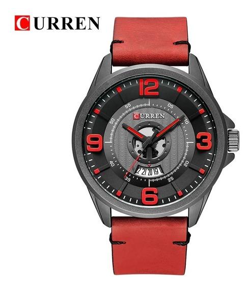 Reloj Para Hombre Curren 8305 Militar Casual Moderno De Piel
