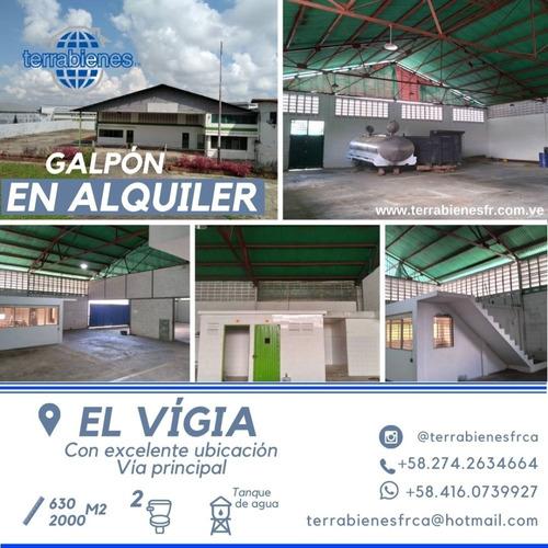 Imagen 1 de 9 de Galpón En Alquiler En El Vigía