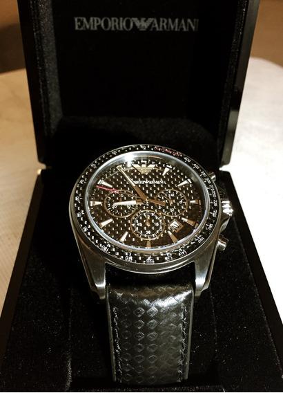 Relógio Empório Armani Ar6122 Original Inox Fibra De Carbono