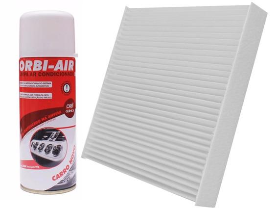 Filtro Ar Condicionado Cabine Polén + Higienizador Fragrância Carro Novo - Vw Polo Novo De 2002 Até 2011
