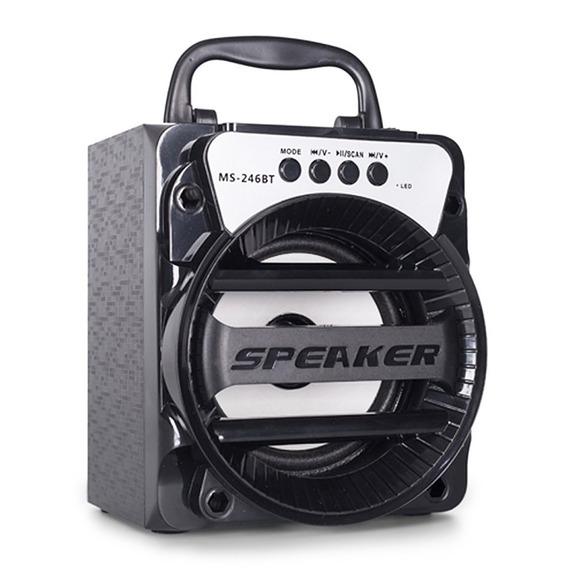 Caixa Som Amplificada Portatil Bluetooth Fm Mp3 Usb Sd 8w