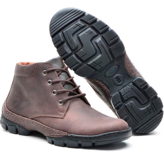 Sapato Botina Social Casual Sapatenis Masculino Bota Couro