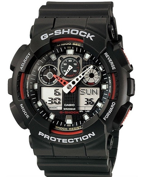 Relógio G-shock Ga-100-1a4dr 11302 Original