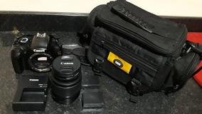 Vendo Câmera Canon Eos Rebel T3 Completa!