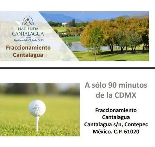 Imagen 1 de 10 de Terreno En Hacienda Cantalagua (club De Golf)