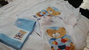 Kit - Toalhinha Rosto - Camiseta - Body Infantil