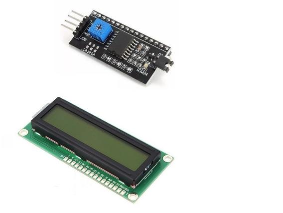 Display Lcd 16x2 1602 Com Back Verde +modulo I2c Pic Arduino
