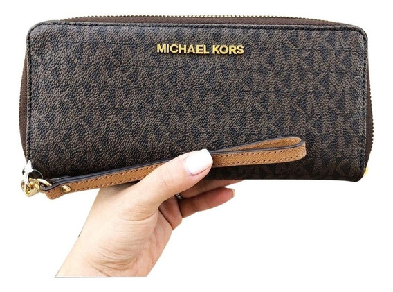 Cartera Wristlet Michael Kors Travel Continental Original