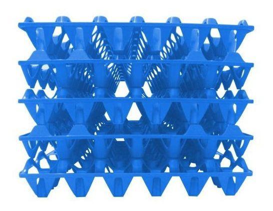 Bandeja Plástica Transporte De Ovos Pct 5 Unidades Azul