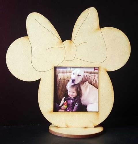 20 Souvenirs Portaretratos Mickey Minnie Bautismo Fibrofacil