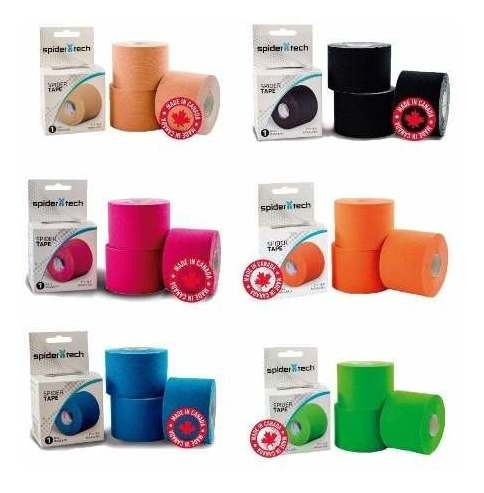 Spider Tech Kinesio Tapping Tape 50mm X 5m Vs Colores 6 Unds