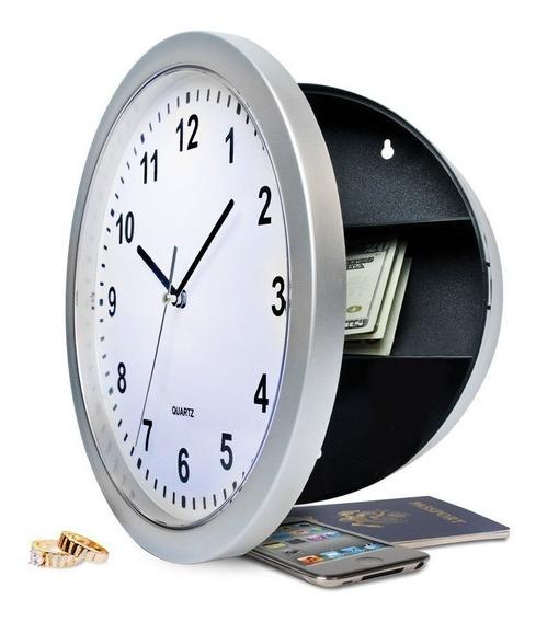 Relógio Parede Esconderijo Cofre Secreto Fundo Falso